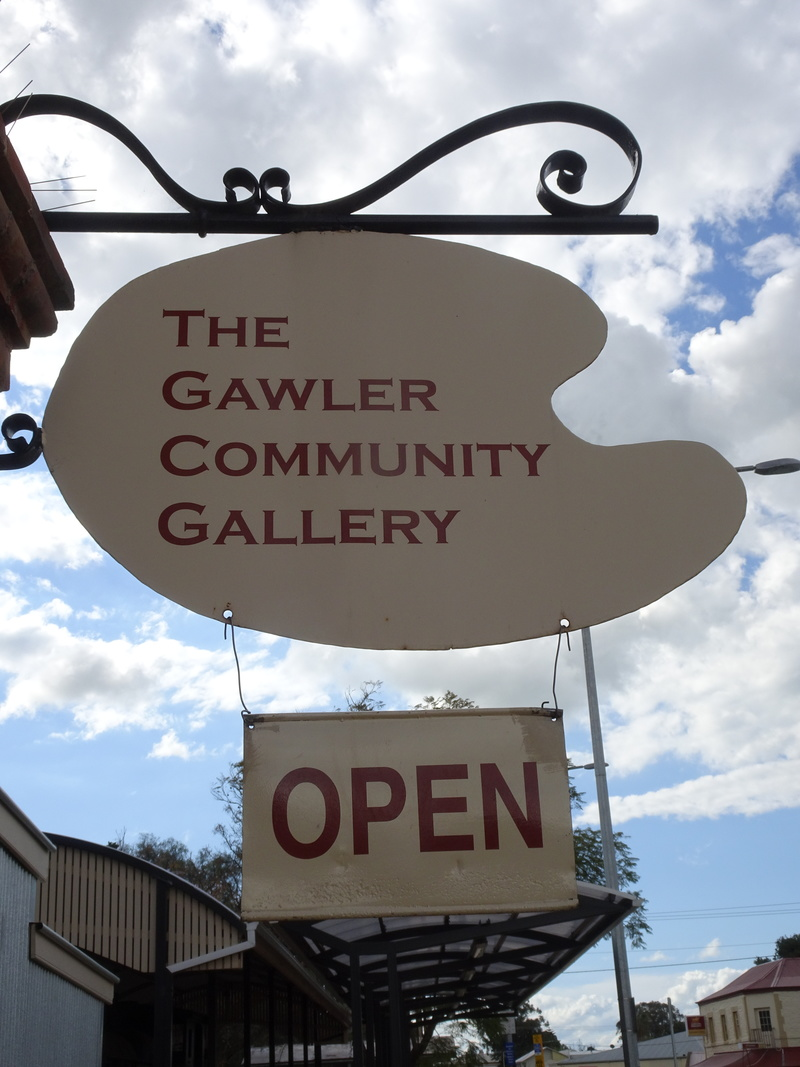 Gallery sign  - Selling Your Art/Craft Through A Community Gallery