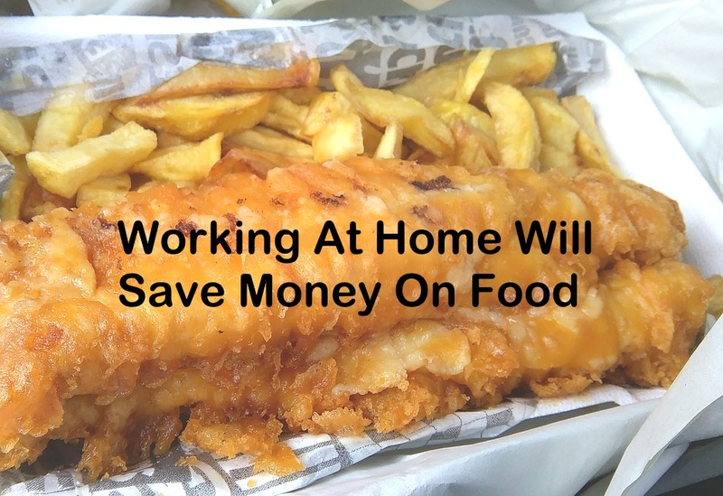 Working at home will save money on food